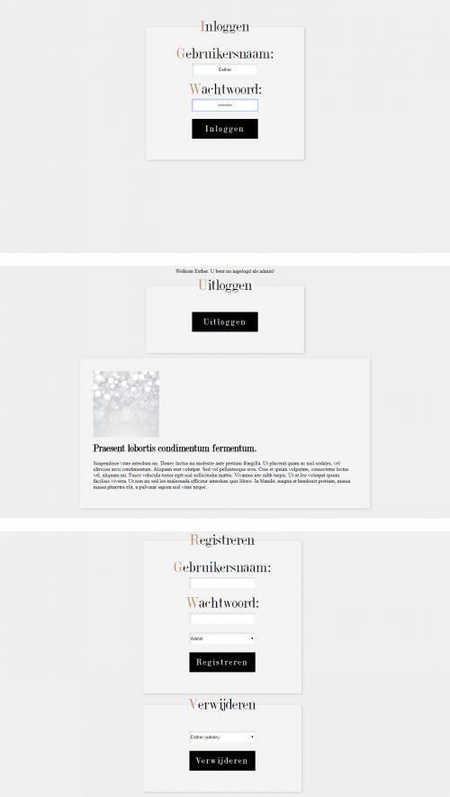 PHP inlogsysteem