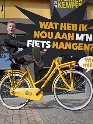 Social media visual voor Werken in de Kempen fietsactie