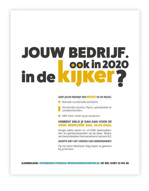 Visual voor flyer en advertentie Werken in de Kempen Open Bedrijven Dag